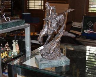 Bronze sculpture - Mountain Man by Frederic Remington