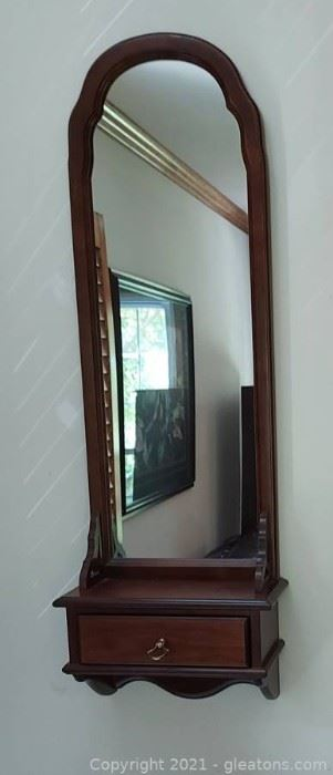 Unique Wall Mirror with Drawer