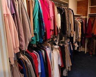 Two huge closets FULL of women's clothing