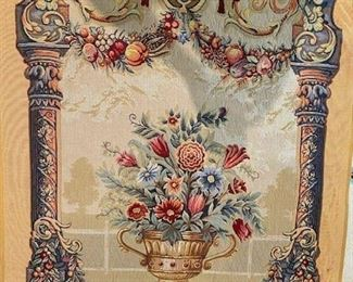 French hand wover tapestry