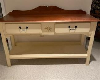 Ethan Allen Cherry and Painted Server