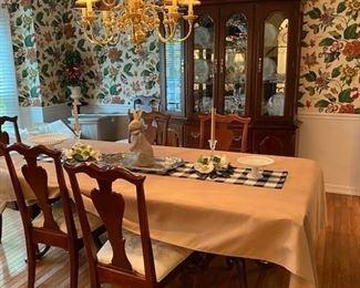 Gorgeous Kinkade Cherry Dining Room Set