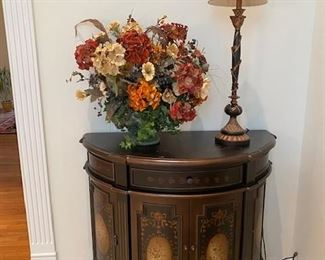 """42x19x35"""" Painted Bombe Commode"""