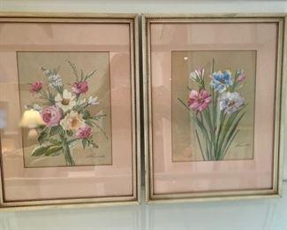 Set of two beautiful watercolors
