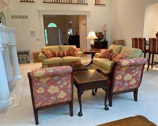 Beautifully upholstery by CR Laine .