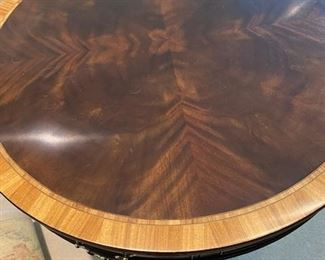 """32"""" Stickley Inlaid Wood Side Table"""