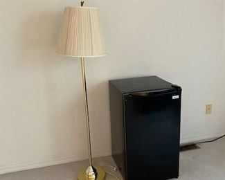 A dorm size refridgerator