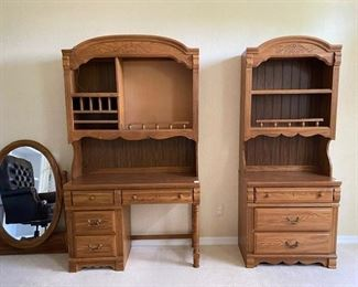 Desk and matching chest and bookshelf