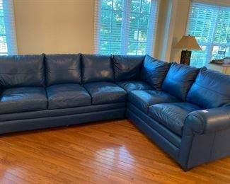 Gorgeous leather sectional sleeper