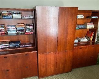 National office furniture 3 sectional book cases $350.  Priced low for a quick delivery, must be picked up and out of the house by Saturday, closing on Tuesday !