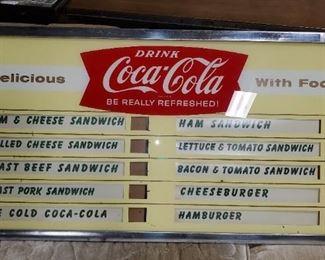 Coca-Cola Menu Board