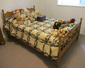 Full Size Maple Bed / Mattress Set