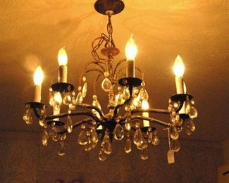 chandelier is for sale but to be picked up at end of sale