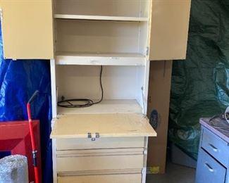 KLN Steel Distributing Co - Mid Century Modern steel desk with hutch