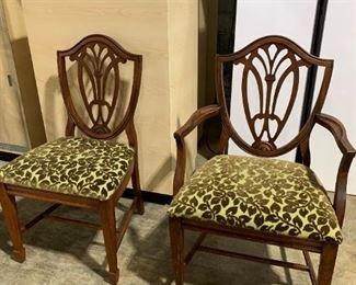 Estate Hepplewhite Style Chairs