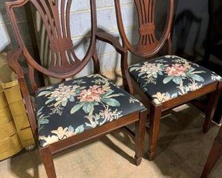 Hepplewhite Style Vintage Chairs