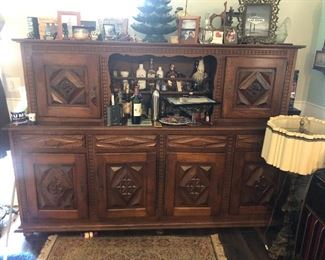 Located at my residence Circa 1940's France very heavy  Two pieces lots of storage and every door has a skeleton key $1200