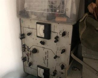 Very vintage  Ham radio  and old air force equipment. These would be great for making a science fiction Movie