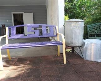 LSU bench and boiling pot