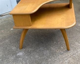1947 Heywood Wakefield Big Mid Century Modern 2 Level End Table