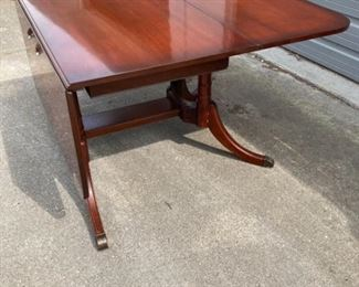 66 Inch Duncan Phyfe Drop Leaf Table with Rotating Base Legs