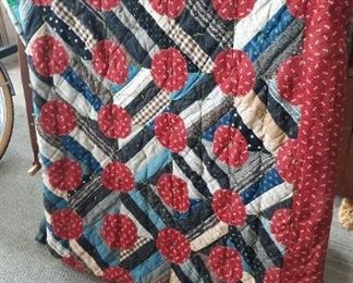 Several beautiful quilts