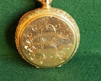 003 Gold 1895 Waltham Pocket Watch