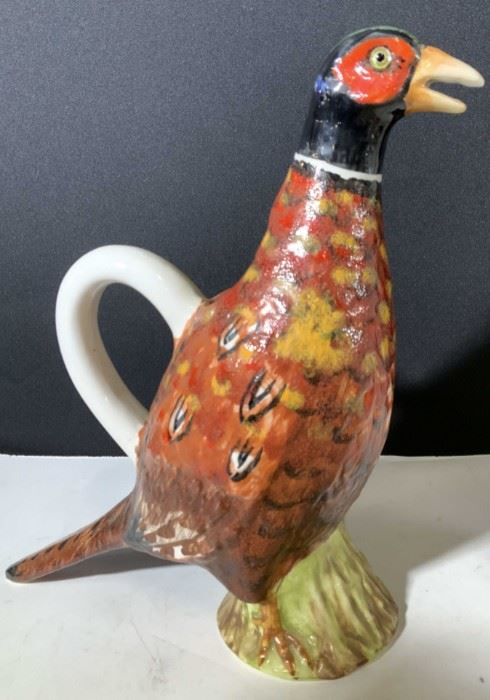 ETHAN ALLAN Handcrafted Ceramic Bird Pitcher Italy