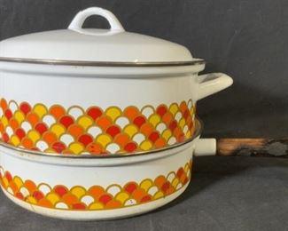 GEORGES BRIARD Enamel Double Boiler Pot