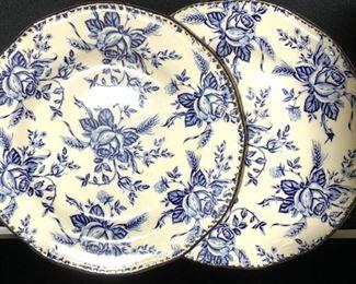 Pr Wood & Sons Fine Porcelain Plates, England
