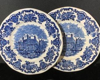 Pair WEDGWOOD Tower of London Ceramic Plates