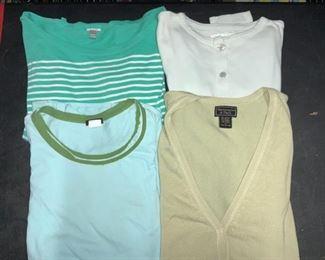 Grp 4 Ladies Cotton Tops, J. Crew, Abercrombie,