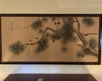 Oriental Silk Screen