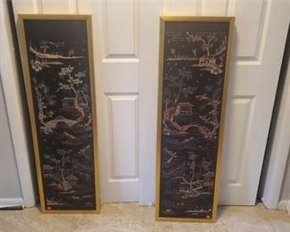 Pair of Antique Silkscreens