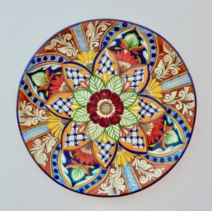 LARGE PAINTED PLATTER FOR HANGING ON YOUR WALL.  $125