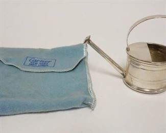 1008CARTIER HANDMADE STERLING FLOWER WATERING CAN, VERMOUTH DROPPER, WATER CAN MARTINI BAR, 1.6 TOZ, 3 1/4 IN HIGH