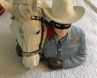The Lone Ranger & Silver cookie jar - no box