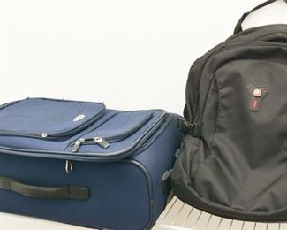 Backpack and Suitcase