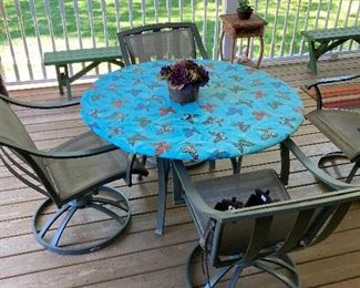 Patio table with four matching chairs