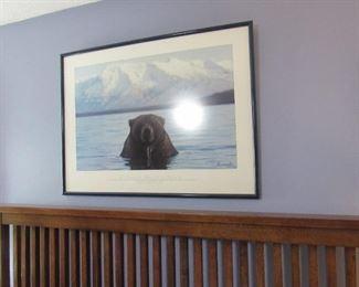 Wildlife artwork throughout the house