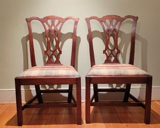 """Pair of side chairs - 38"""" high x 22"""" wide x 17"""" deep"""