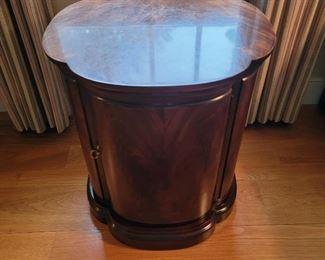 "Side table - 24"" high x 21"" diameter"