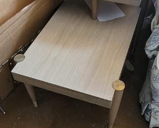 Mid century asymmetric wood coffee table