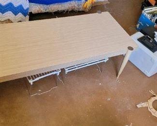 Mid century wood coffee table