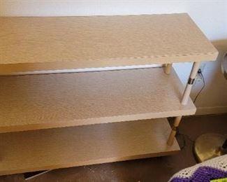 3 tier wood shelf