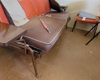 Vintage Futon with end tables
