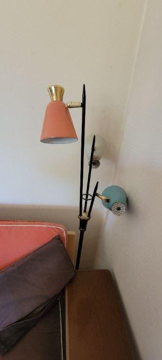 Retro 3 light floor lamp