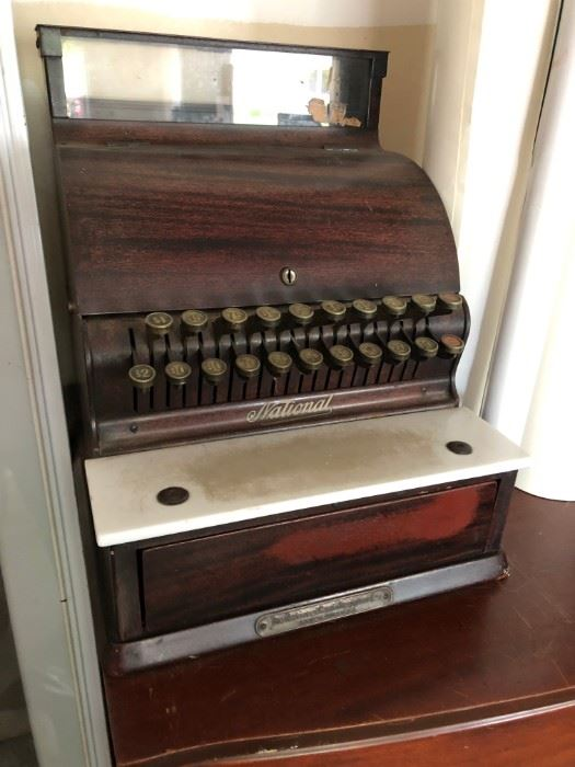 Antique National Cash Register w/ Keys
