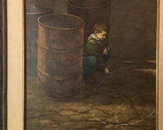 Herbert Davidson (1930-2018) oil painting.