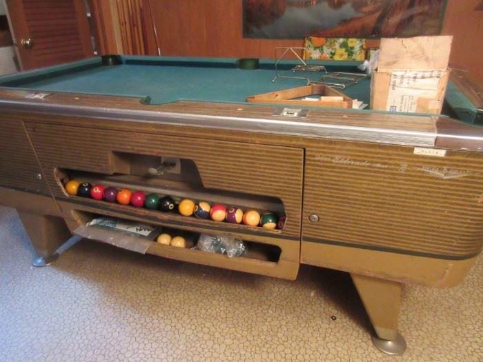"Coin operated El Dorado pool table from ""Hi Ho"" club"
